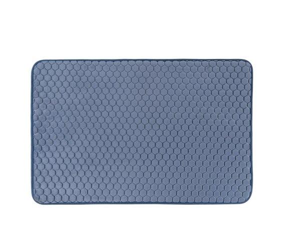 Αντιολισθητικό Χαλάκι Μπάνιου με μικροϊνες σε μπλε απόχρωση, 45x75 cm, Bath Mat