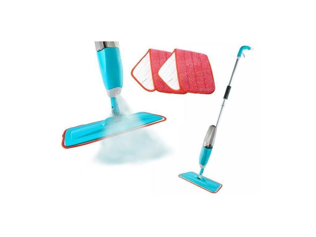 Σφουγγαρίστρα με Σπρέι Ψεκασμού Spray Mop και Πανάκι με χωρητικότητα δοχείου 600ml, 40.5x14x125cm
