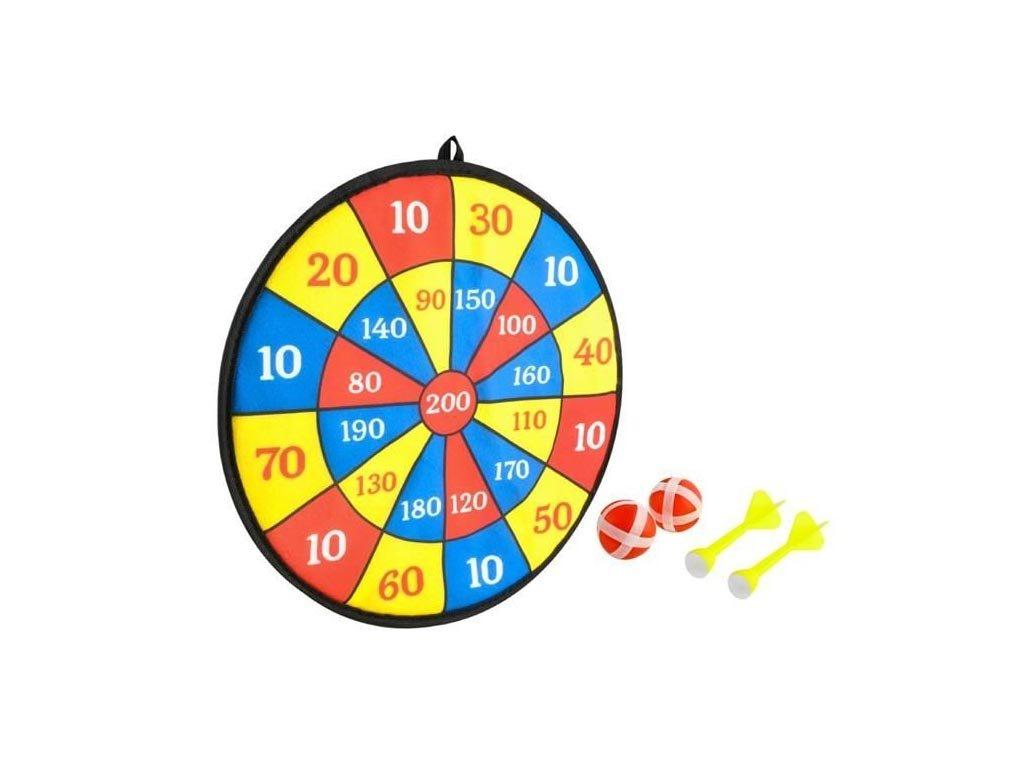 Παιδικό παιχνιδι στόχος με Velcro ύφασμα, βελάκια και μπαλάκια, 35.5x35.5x2 cm