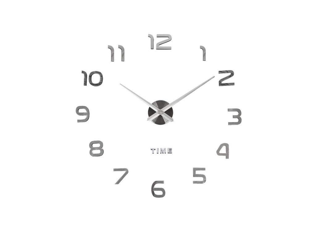 Διακοσμητικό Ρολόι Τοίχου 3D με εφέ καθρέφτη διαμέτρου 70-130cm, do it your self