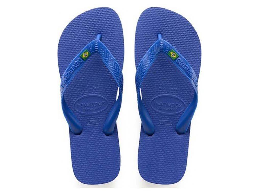 Havaianas Σαγιονάρες Unisex Brazil σε μπλε χρώμα 45/46
