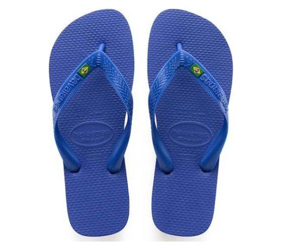 Havaianas Σαγιονάρες Unisex Brazil σε μπλε χρώμα 47/48