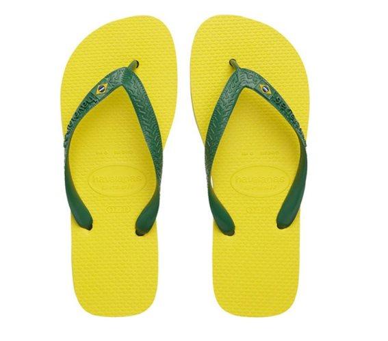 Havaianas Σαγιονάρες Unisex Brazil σε κίτρινο χρώμα 45/46