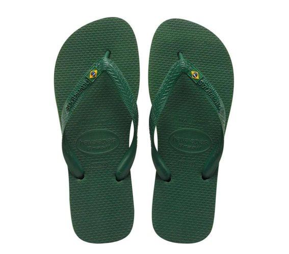 Havaianas Σαγιονάρες Unisex Brazil σε πράσινο χρώμα 47/48
