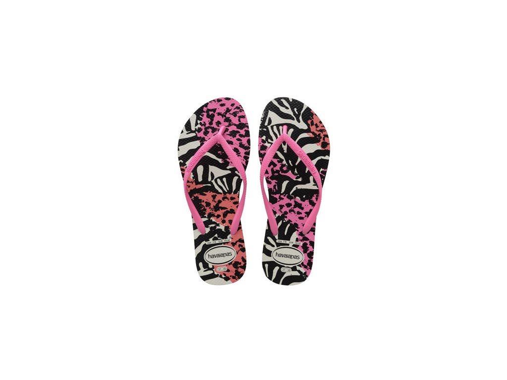 Havaianas Γυναικείες Σαγιονάρες, Flip Flops, σε multi animal ροζ χρώμα, Slim Animals 37/38