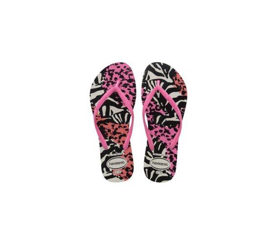 Havaianas Γυναικείες Σαγιονάρες, Flip Flops, σε multi animal ροζ χρώμα, Slim Animals 39/40