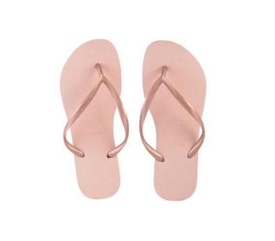 Havaianas Γυναικείες Σαγιονάρες, Flip Flops, σε απαλό Ροζ χρώμα 39/40