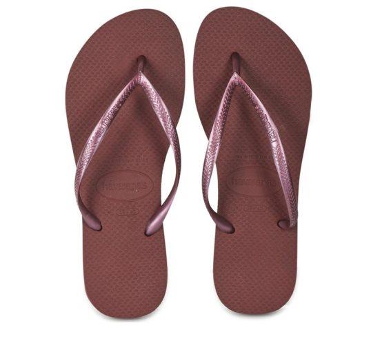 Havaianas Γυναικείες Σαγιονάρες, Flip Flops, σε απαλό μπορντό χρώμα 41/42