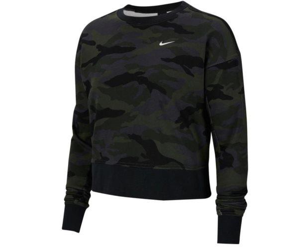Nike Γυναικείο Top Φούτερ με τεχνολογία Dri-FIT, σε σχέδιο παραλαγή Large