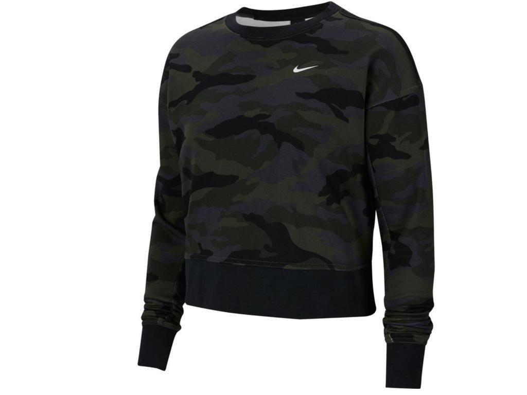 Nike Γυναικείο Top Φούτερ με τεχνολογία Dri-FIT, σε σχέδιο παραλαγή XXLarge