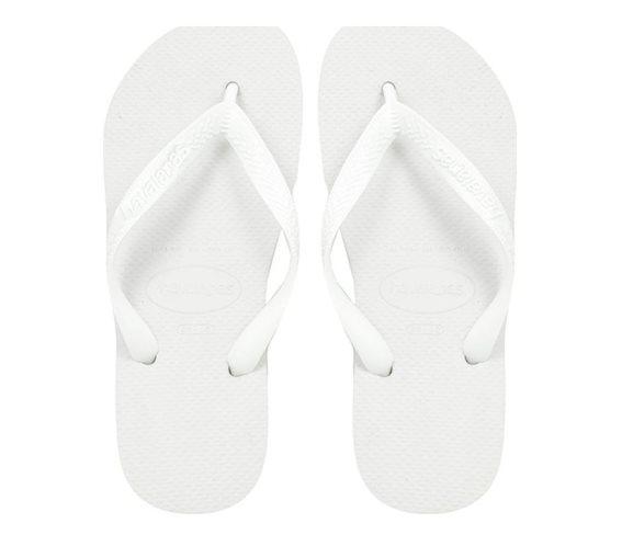 Havaianas Ανδρικές Σαγιονάρες, σε λευκό χρώμα, Top Unisex 45/46