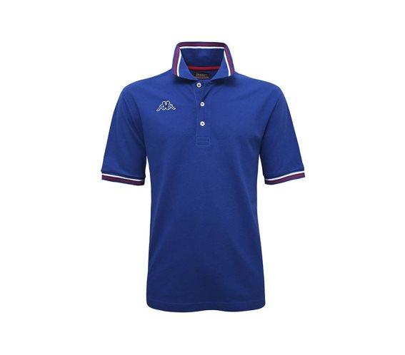 Kappa Ανδρική Μπλούζα Polo σε μπλε χρώμα με γιακά, Maltax 5 Mss Large