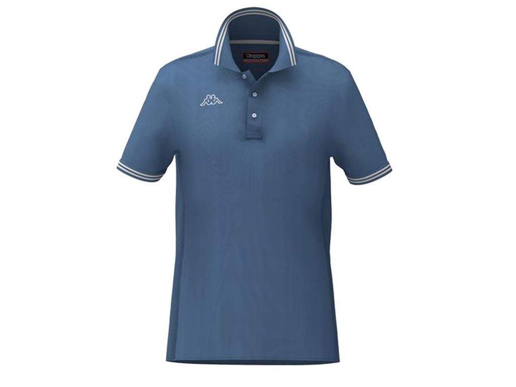 Kappa Ανδρική Μπλούζα Polo σε μπλε Indigo χρώμα με γιακά, Maltax 5 Mss Large