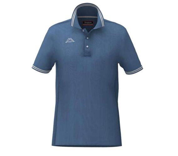 Kappa Ανδρική Μπλούζα Polo σε μπλε Indigo χρώμα με γιακά, Maltax 5 Mss Medium