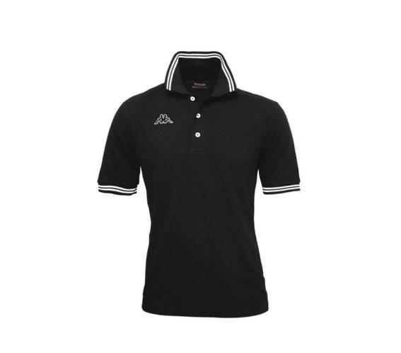 Kappa Ανδρική Μπλούζα Polo σε μαύρο χρώμα με γιακά, Maltax 5 Mss XXLarge