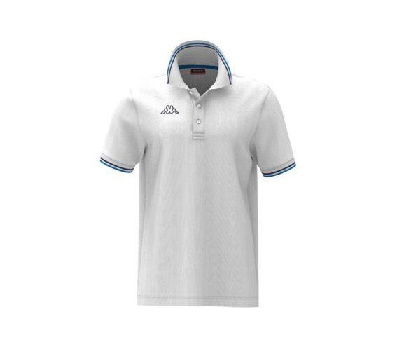 Kappa Ανδρική Μπλούζα  Polo σε Λευκό χρώμα με γιακά, Maltax 5 Mss Large