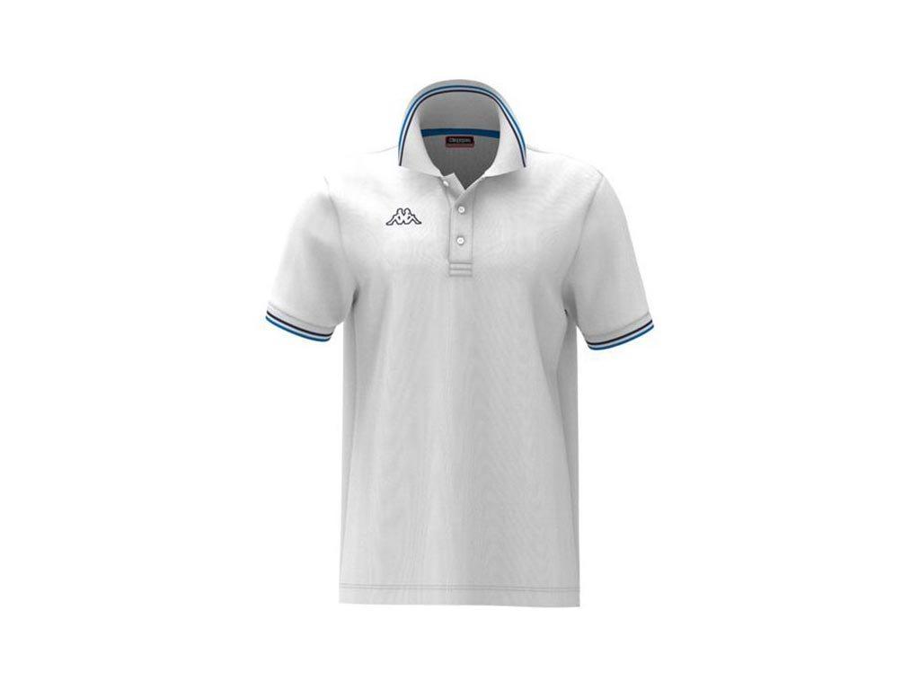 Kappa Ανδρική Μπλούζα  Polo σε Λευκό χρώμα με γιακά, Maltax 5 Mss XLarge