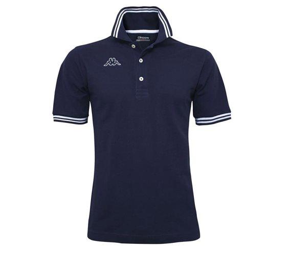 Kappa Ανδρική Μπλούζα Polo σε Μπλε σκούρο χρώμα με γιακά, Maltax 5 Mss Large