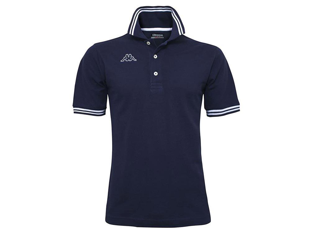Kappa Ανδρική Μπλούζα Polo σε Μπλε σκούρο χρώμα με γιακά, Maltax 5 Mss XXLarge