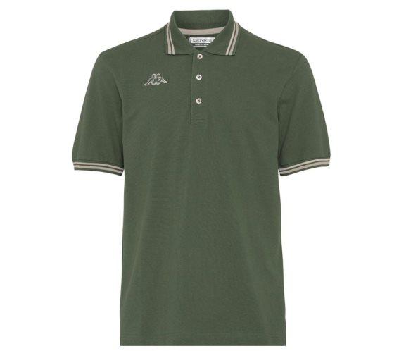 Kappa Ανδρική Μπλούζα Polo σε Λαδί χρώμα με γιακά, Maltax 5 Mss XLarge