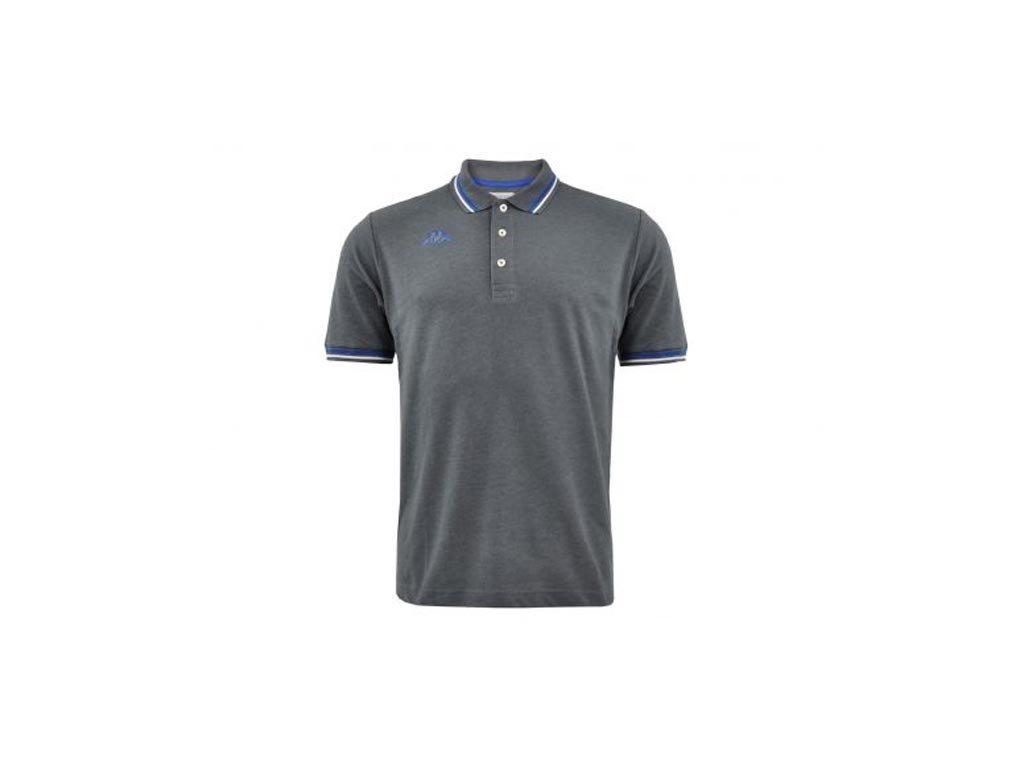 Kappa Ανδρική Μπλούζα Polo σε Σκούρο Γκρι χρώμα με γιακά, Maltax 5 Mss Large