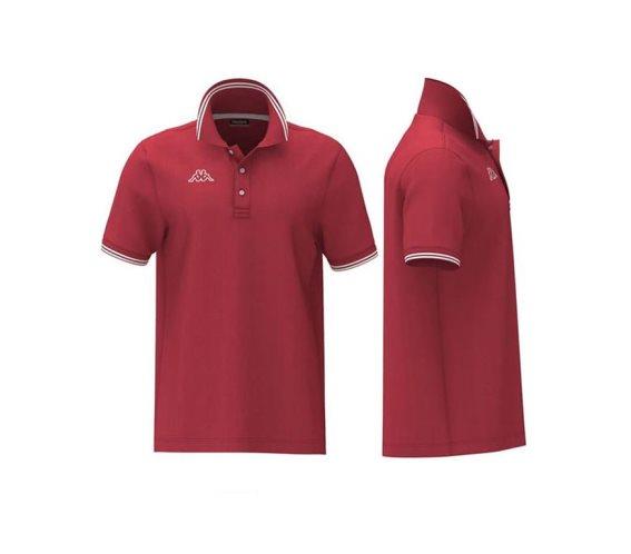 Kappa Ανδρική Μπλούζα Polo σε Κόκκινο χρώμα με γιακά, Maltax 5 Mss Large