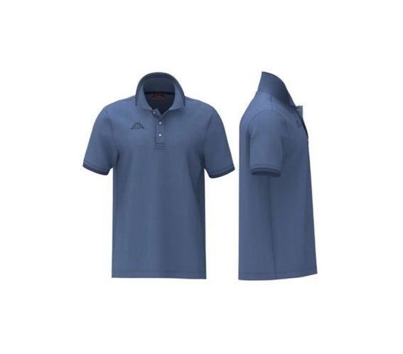 Kappa Ανδρική Μπλούζα Polo σε Μπλε χρώμα με γιακά, Maltax 5 Mss XLarge