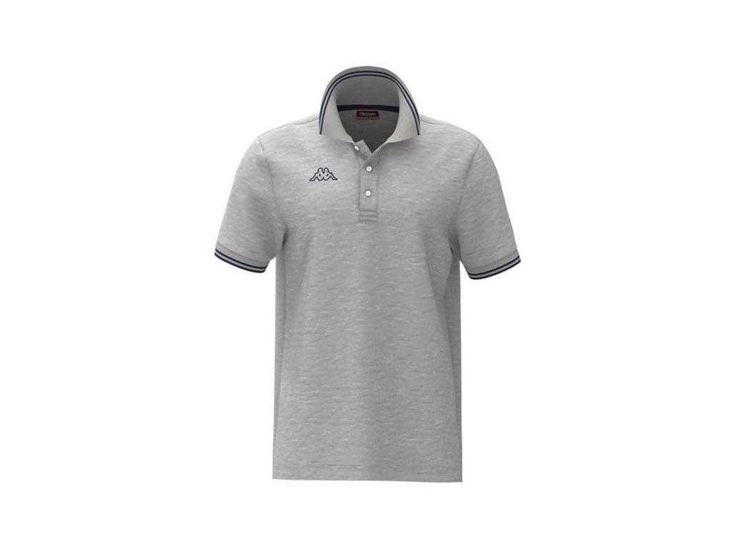 Kappa Ανδρική Μπλούζα Polo σε Γκρι χρώμα με γιακά, Maltax 5 Mss XLarge
