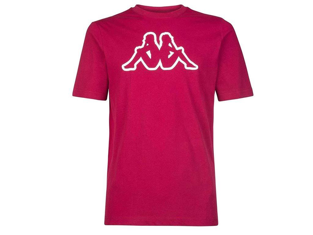 Kappa Ανδρικό T-Shirt σε Κόκκινο Χρώμα, Cromen Logo Medium