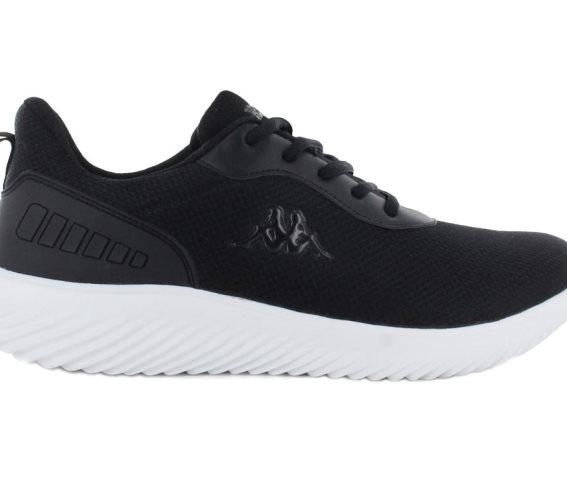 Kappa Ανδρικό Αθλητικό Παπούτσι Πάνινο με ελαφρά EVA σόλα, σε μαύρο χρώμα, Logo Emre 45