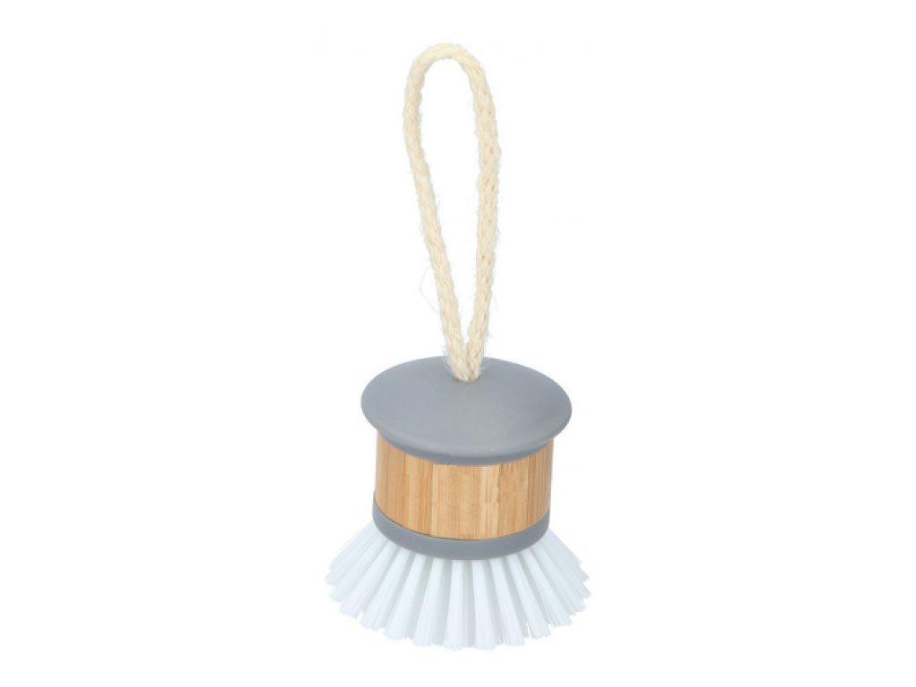 Στρογγυλή Βούρτσα Καθαρισμού Πιάτων με λεπτομέρεια από Bamboo, 6x7.8 cm, Alpina