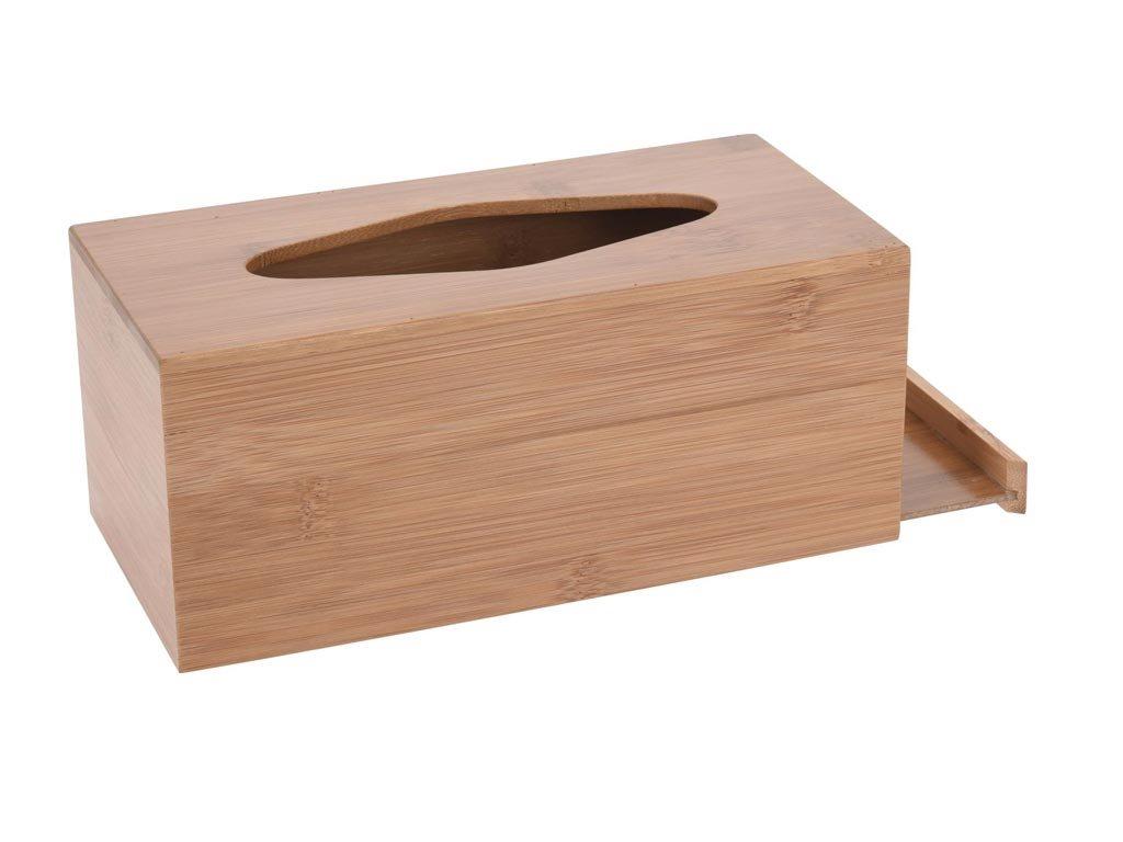 Θήκη για χαρτομάντηλα από Ξύλο Bamboo, 25x12x10.5 cm, Tissue case