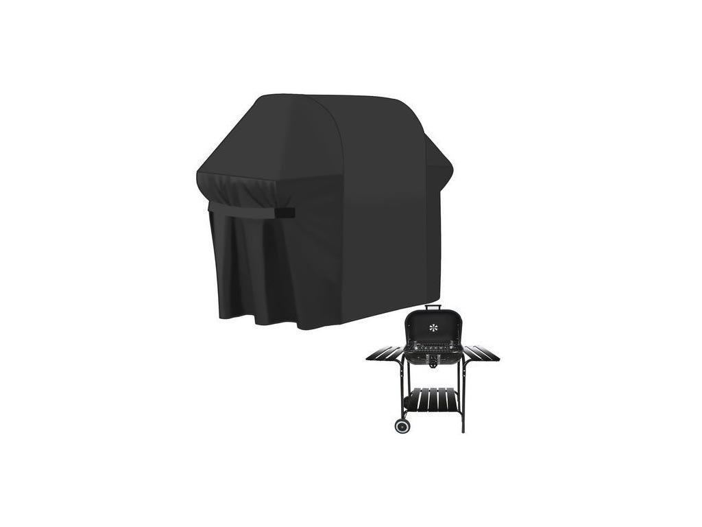 Aria Trade Κάλυμμα Ψησταριάς BBQ Μαύρο 147x61x122cm 00015184