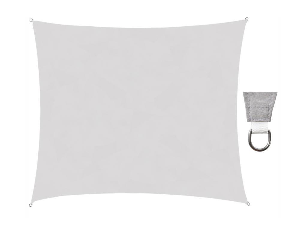 Αντηλιακή Τετράγωνη Τέντα Σκίαστρο από πολυεστέρα σε γκρι χρώμα, 4x3 m, Square shade cloth