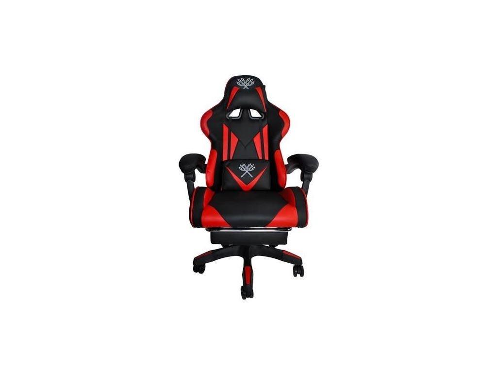 Πολυθρόνα Καρέκλα Γραφείου Gaming με υποπόδιο σε μαύρο κόκκινο χρώμα, 124x63x63cm, Gaming Chair
