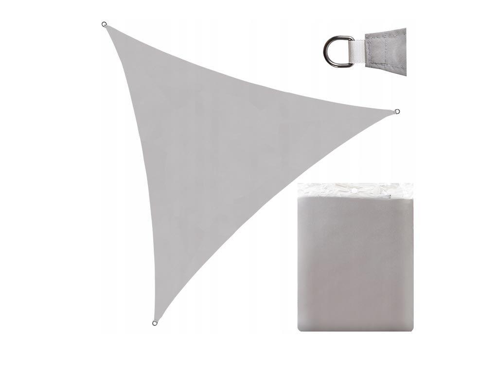 Αντηλιακή Αδιάβροχη Τριγωνική Τέντα Σκίαστρο διαστάσεων 3x3x3 μέτρα, σε Χρώμα Γκρι
