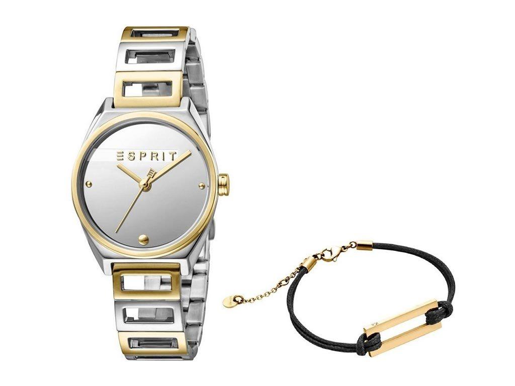 Esprit Σετ Γυναικείο Ρολόι χειρός 2 τεμ με μπρασελέ και βραχιόλι, ES1L058M0045