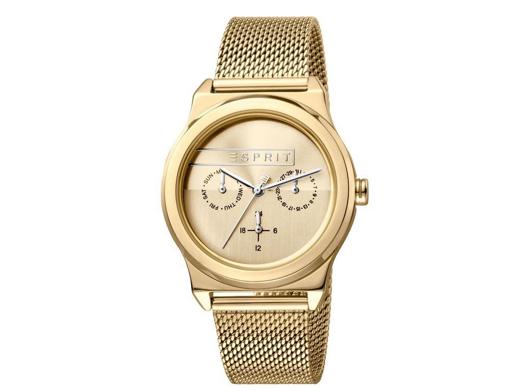 Esprit Γυναικείο Ρολόι χειρός με μπρασελέ σε χρυσό χρώμα, ES1L077M0055
