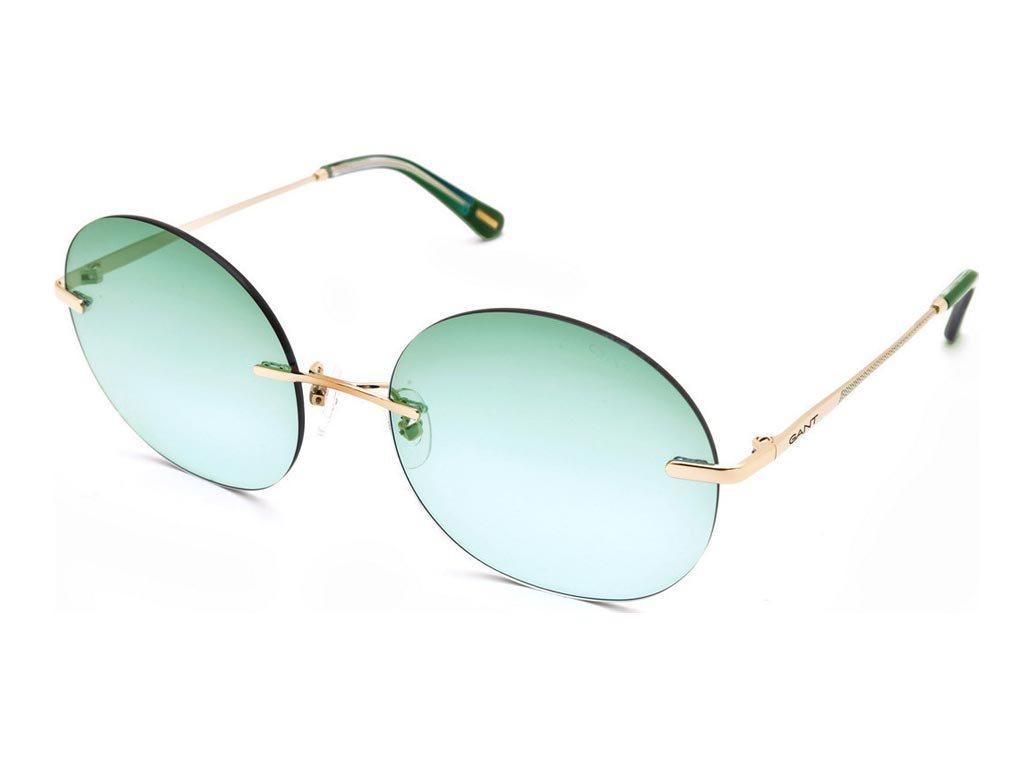 Gant Γυναικεία Γυαλιά Ηλίου με μεταλλικό χρυσό σκελετό και πράσινο φακό, GA8074 32P 58