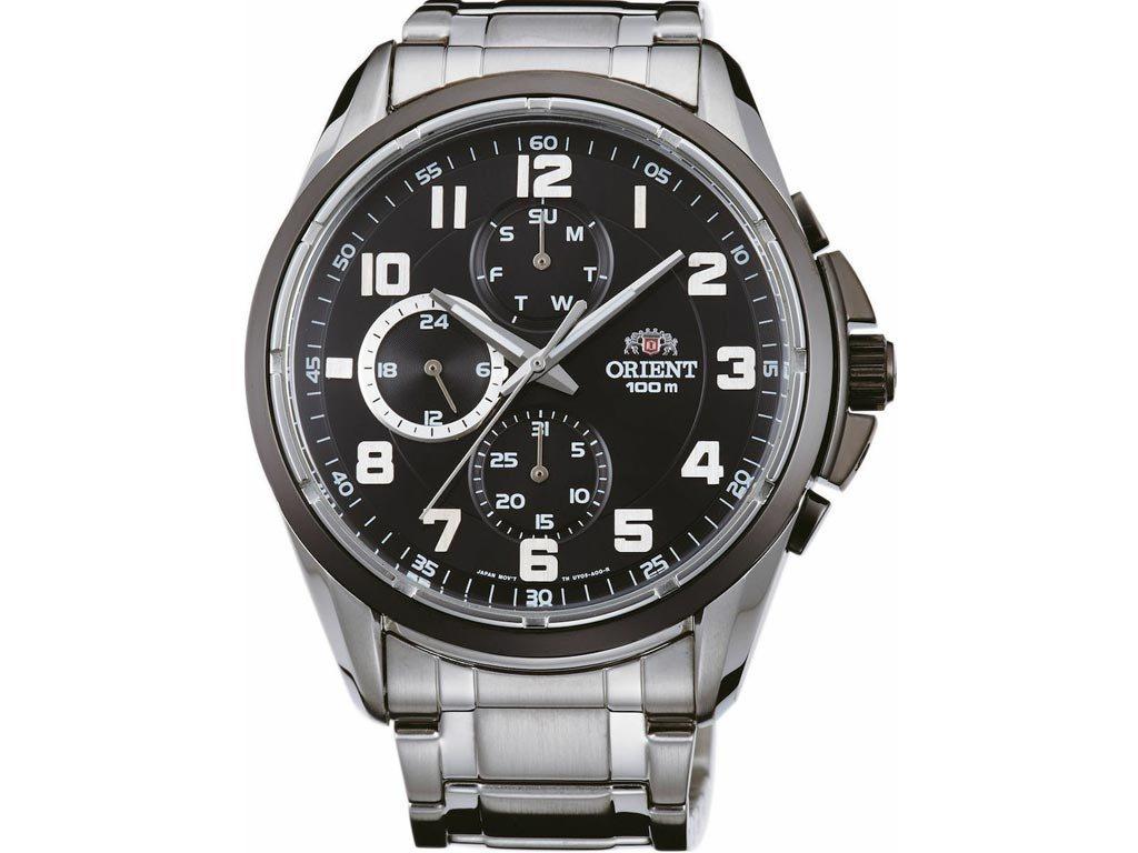 Orient Ανδρικό Ρολόι Χρονογράφος με Μεταλλικό Μπρασελέ σε Ασημί χρώμα, FUY05002B0