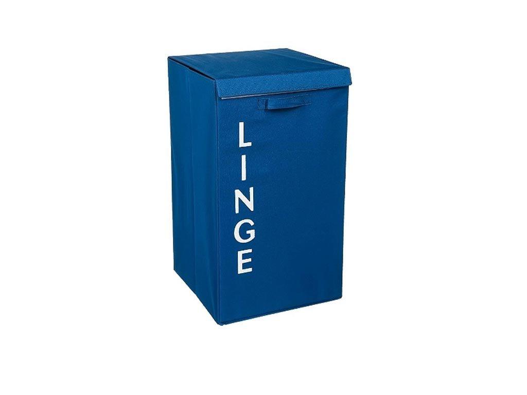 Πτυσσόμενο Καλάθι απλύτων σε μπλε χρώμα, 36x36x63 cm, Laundry basket