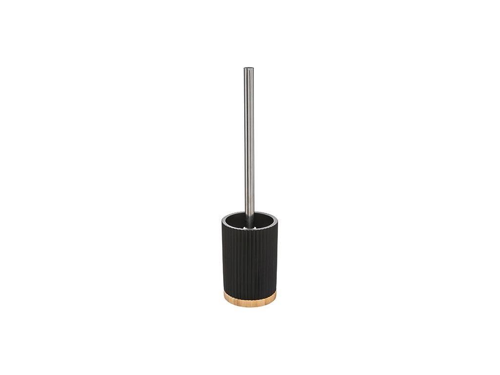 Πιγκάλ Μπάνιου με στρογγυλή βάση ,σε Μαύρο Χρώμα, 8.8x35 cm