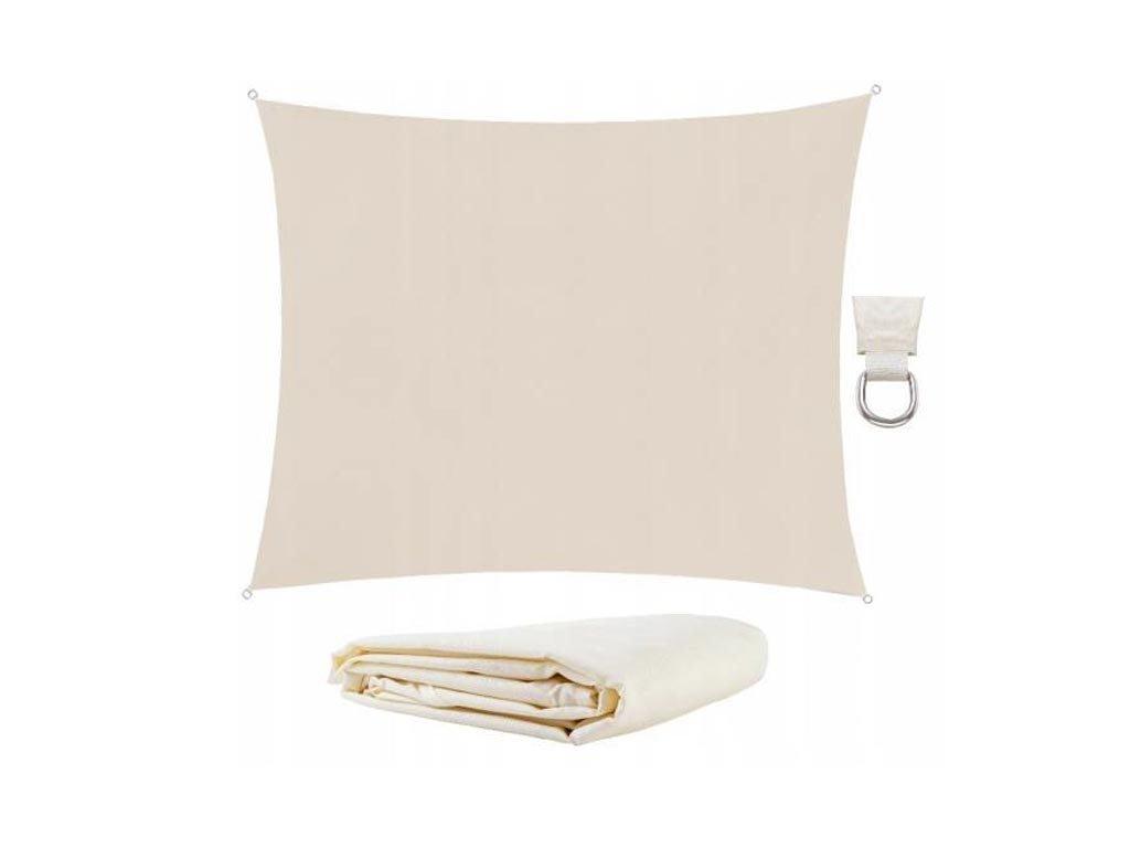 Αντηλιακή  Τέντα Σκίαστρο από πολυεστέρα σε μπεζ χρώμα, 3x2 m shade cloth