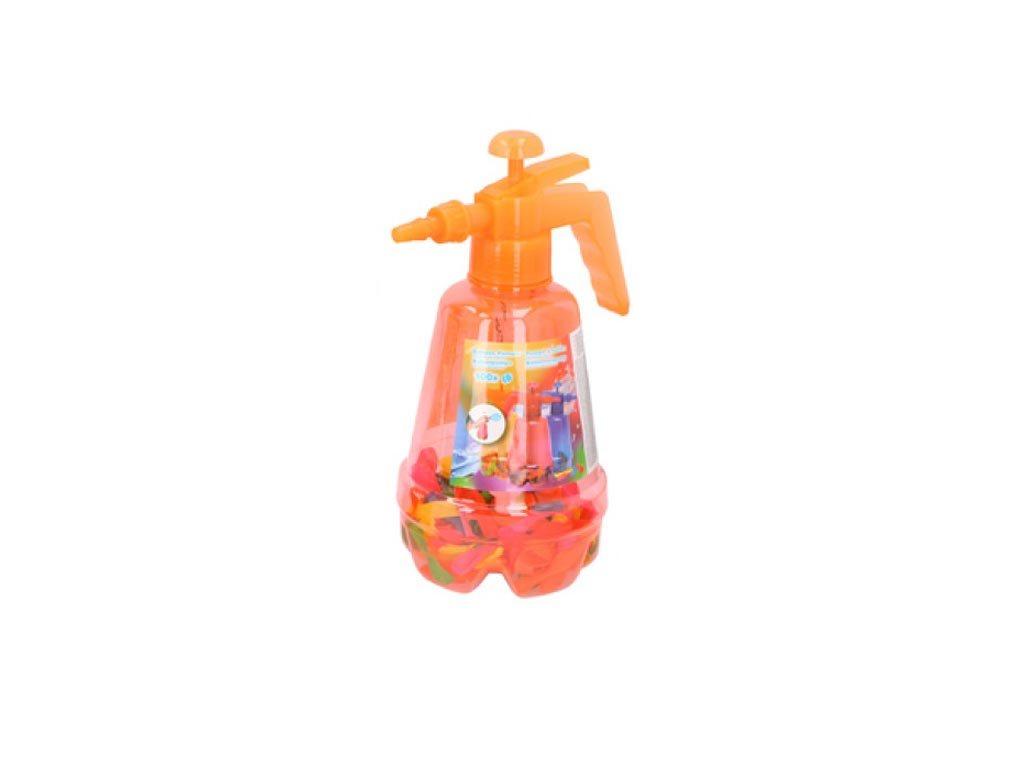 Eddy Toys Σετ Τρόμπα και 100 Πολύχρωμα Μπαλόνια για Party, Balloon pumper Πορτοκαλί