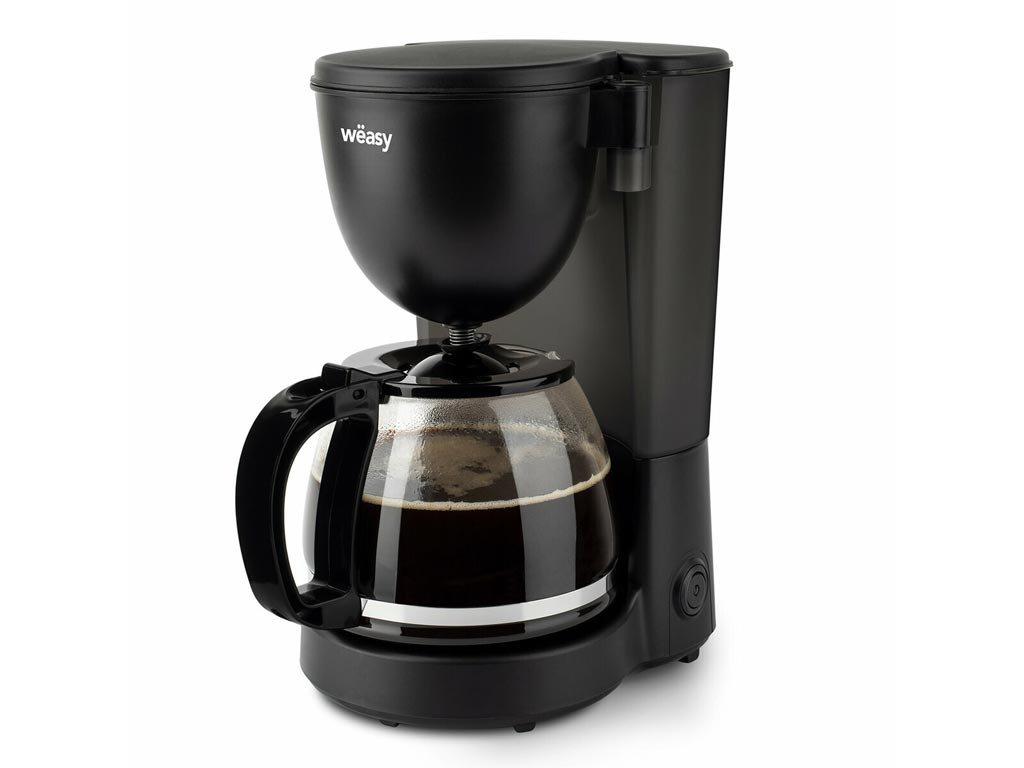 Καφετιέρα Φίλτρου Γαλλικού Καφέ 600W χωρητικότητας 1.25L, σε Μάυρο χρώμα, Weasy KF24