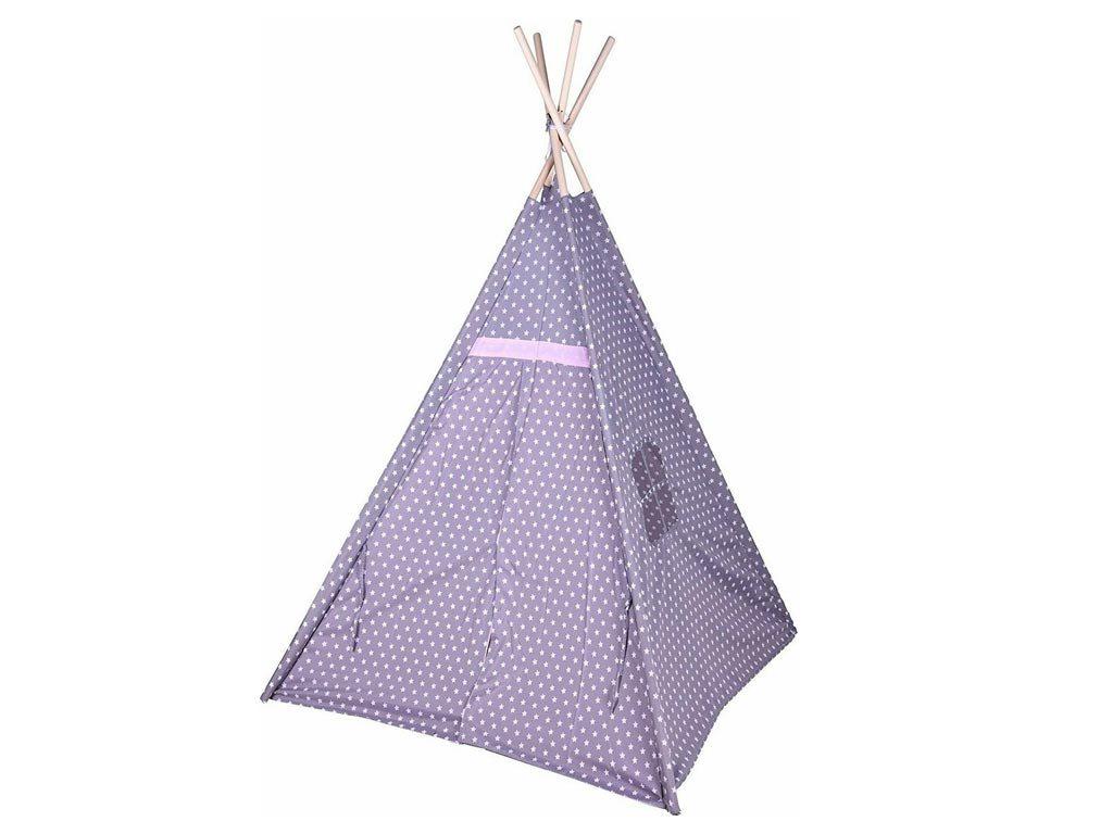 Aria Trade Παιδική Ινδιάνικη Σκηνή Teepee Ροζ/Γκρι Αστέρια 103x103x160cm