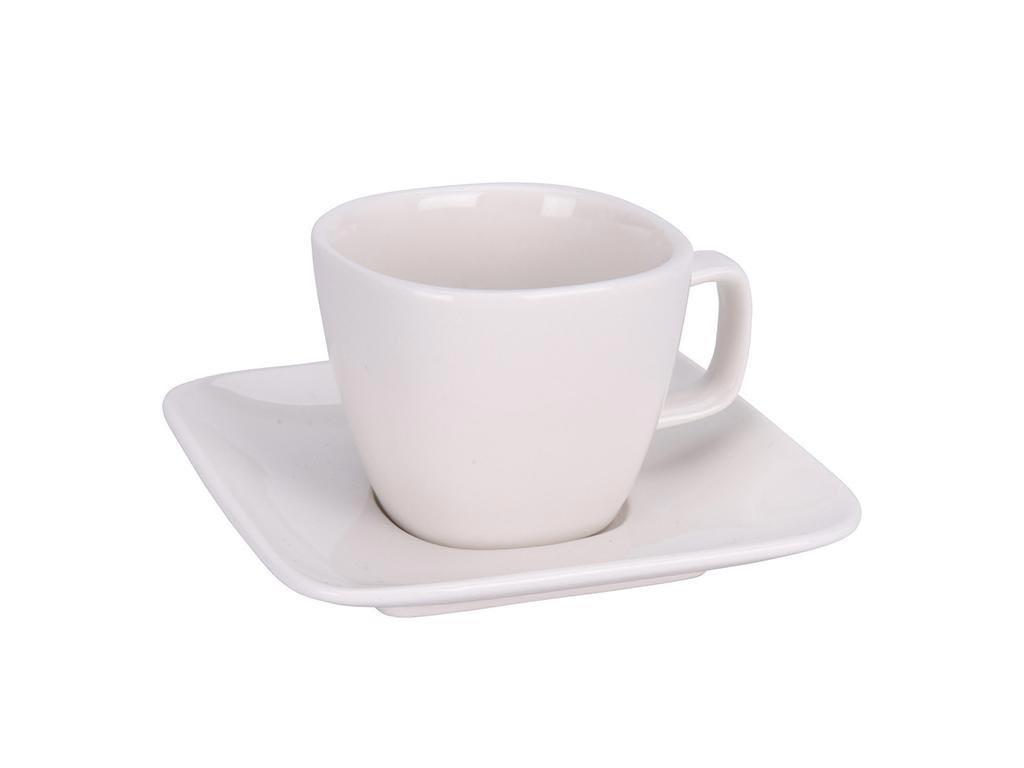 Φλυτζάνι για Espresso από πορσελάνη χωρητικότητας 100 ml, σε Λευκό χρώμα