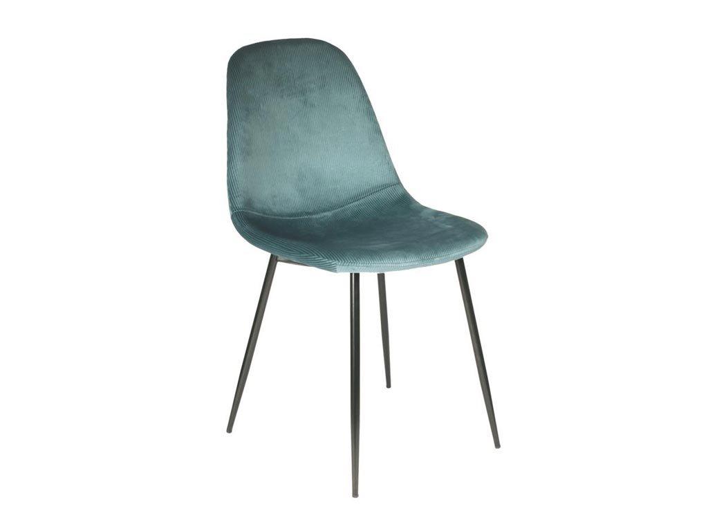 Aria Trade Καρέκλα Τραπεζαρίας 44x45x86cm Πετρόλ
