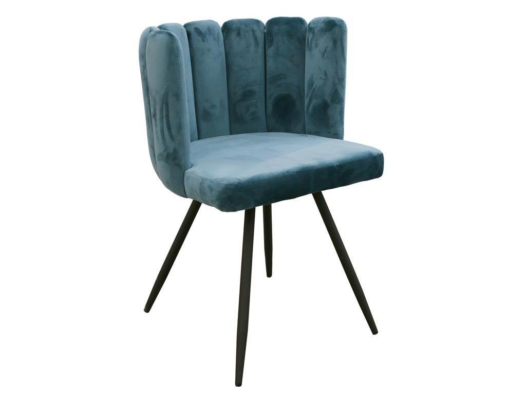 Πολυθρόνα σαλονιού με μοντέρνο σχέδιο σε πετρόλ  χρώμα, 52.5x50.5x80 cm, Armchair