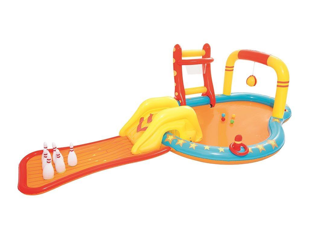 Bestway φουσκωτή πισίνα δραστηριοτήτων παιδότοπος, 435x213x117 cm, 53068